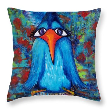 Sittin' At The Dock Of The Bay Throw Pillow by Vickie Scarlett-Fisher