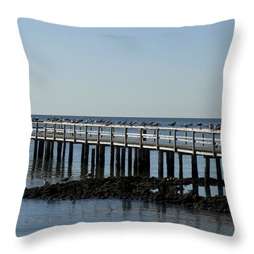 Sittin' On The Dock By The Bay Throw Pillow