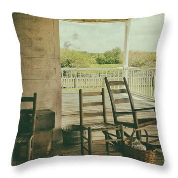 Sittin Place Throw Pillow
