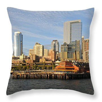 Sitting By The Dock On The Bay Throw Pillow