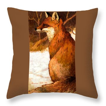 Sitting Fox Throw Pillow