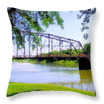 Throw Pillow featuring the photograph Sitting In Fort Benton by Susan Kinney