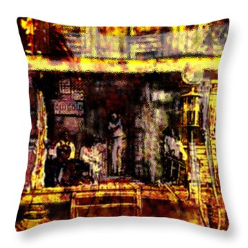 Sitting In Shade Throw Pillow by Seth Weaver