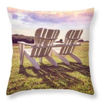 Throw Pillow featuring the photograph Sitting In The Sun by Debra and Dave Vanderlaan