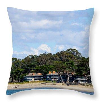 Sitting On The Beach Throw Pillow