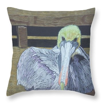 Sitting On The Dock Throw Pillow by Anita Putman