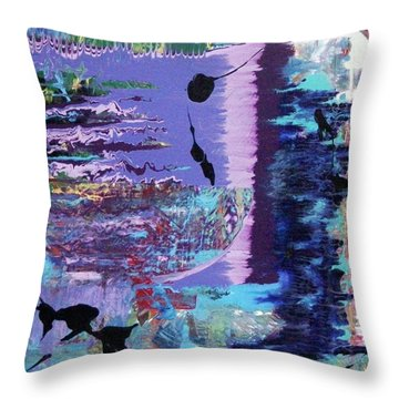 Sittin' On The Dock Of The Bay Wastin' Time Throw Pillow