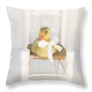 Sitting Pretty Throw Pillow by Amy Tyler