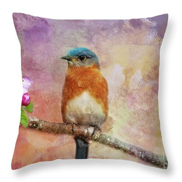 Sitting Pretty Throw Pillow by Geraldine DeBoer
