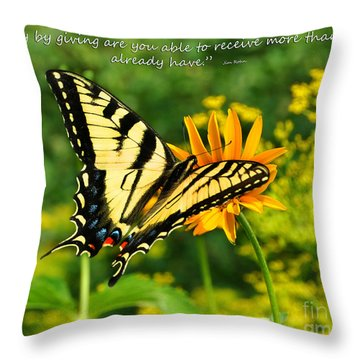 Sitting Pretty Giving Throw Pillow