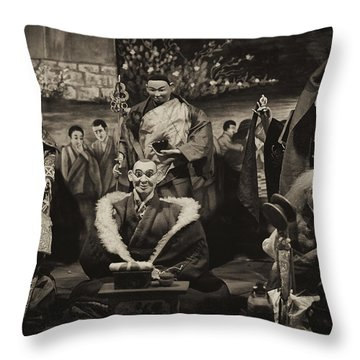 Sitting Together Throw Pillow by Rajiv Chopra