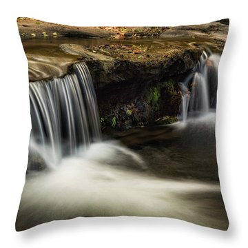 Throw Pillow featuring the photograph Sitting Under The Waterfall  by Saija Lehtonen