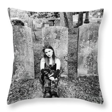 Sitting With The Dead Throw Pillow