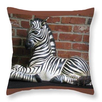 Sitting Zebra Throw Pillow