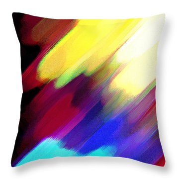 Throw Pillow featuring the painting Sivilia 1 Abstract by Donna Corless