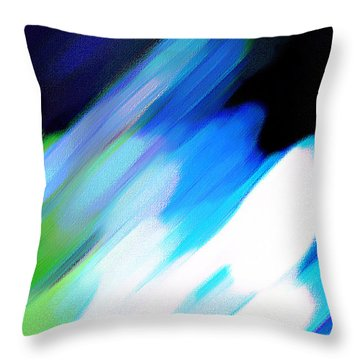 Throw Pillow featuring the painting Sivilia 10 Abstract by Donna Corless