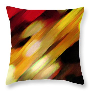 Throw Pillow featuring the painting Sivilia 11 Abstract by Donna Corless