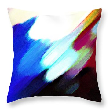 Throw Pillow featuring the painting Sivilia 12 Abstract by Donna Corless