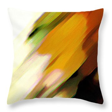 Throw Pillow featuring the painting Sivilia 2 Abstract by Donna Corless