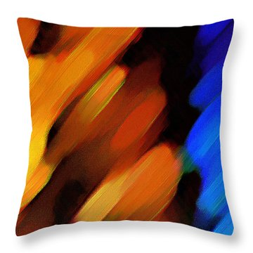 Throw Pillow featuring the painting Sivilia 3 Abstract by Donna Corless