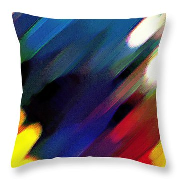 Throw Pillow featuring the painting Sivilia 4 Abstract by Donna Corless