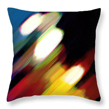 Throw Pillow featuring the painting Sivilia 5 Abstract by Donna Corless