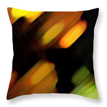 Throw Pillow featuring the painting Sivilia 6 Abstract by Donna Corless
