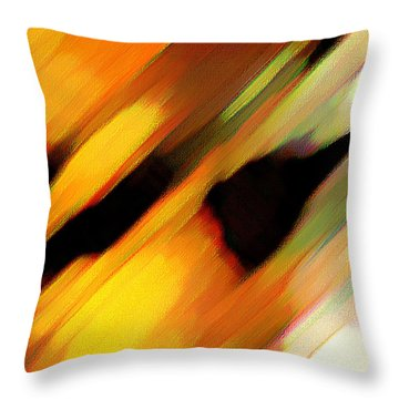 Throw Pillow featuring the painting Sivilia 8 Abstract by Donna Corless