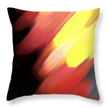 Throw Pillow featuring the painting Sivilia 9 Abstract by Donna Corless