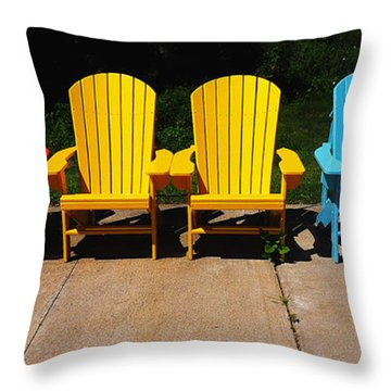 Six Chairs Throw Pillow