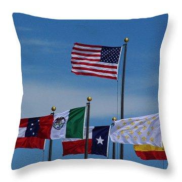 Six Flags Over Texas Throw Pillow