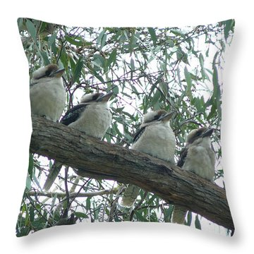 Six In A Row Throw Pillow