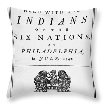 Six Nations Treaty, 1742 Throw Pillow by Granger