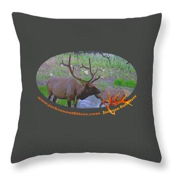 Six Point Bull Elk In Colorado Throw Pillow