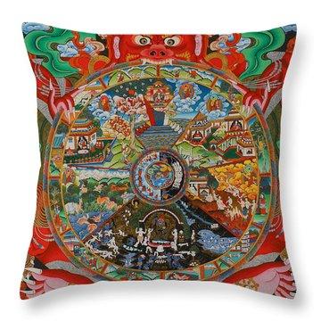 Six Realms Wheel Of Life Throw Pillow