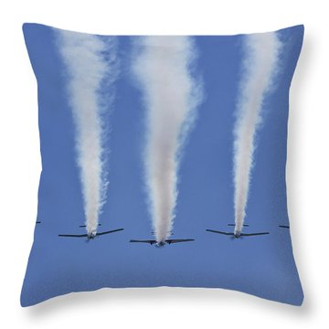 Throw Pillow featuring the photograph Six Roolettes In Formation by Miroslava Jurcik