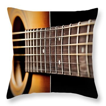 Six String Guitar Throw Pillow