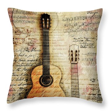 Six String Sages Throw Pillow