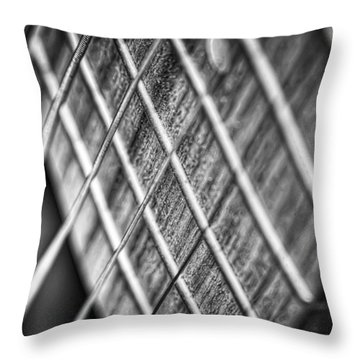 Six Strings Throw Pillow