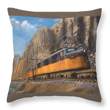 Sixteen Mile Canyon Throw Pillow by Christopher Jenkins