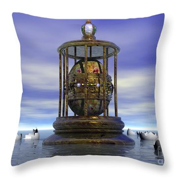 Sixth Sense - Surrealism Throw Pillow