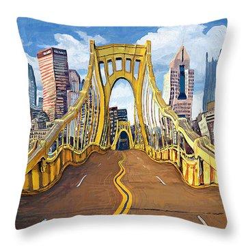Sixth Street Bridge, Pittsburgh Throw Pillow
