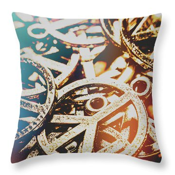 Sixties Peace Revolution Throw Pillow