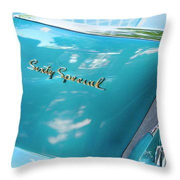 Sixty Special Cadillac Throw Pillow by Theresa Tahara