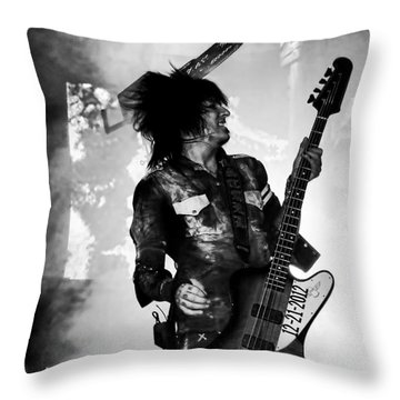 Sixx Throw Pillow by Traci Cottingham