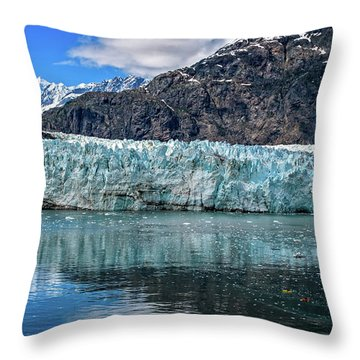 Size Perspective No Margerie Glacier Throw Pillow