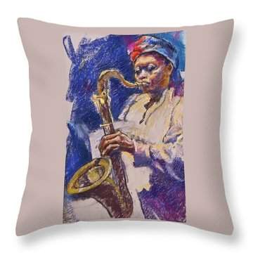 Sizzlin' Sax Throw Pillow