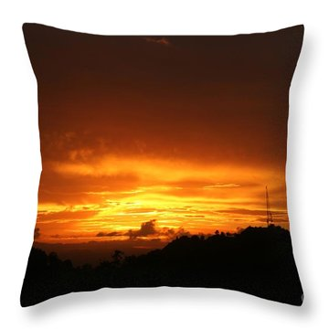 Throw Pillow featuring the photograph Sizzling Sunset by The Art of Alice Terrill