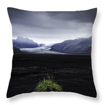 Skaftafellsjokull Glacier Throw Pillow