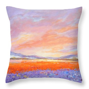 Skaggit Valley Tulips Throw Pillow